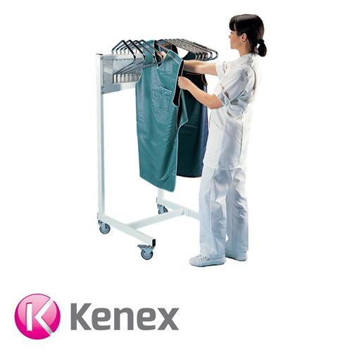 Kenex Mobile Swivel Arm Apron Rack