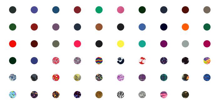 Xenolite fabric colours 2021